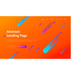 Abstract orange geometric gradient shape web page vector