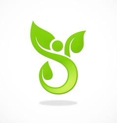 abstract people spa ecology logo vector image