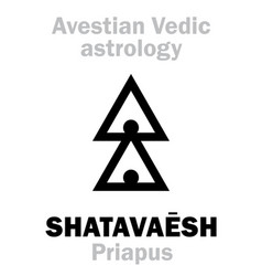 Astrology astral planet shatavaesh priapus vector