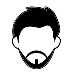 Bearded man avatar head icon image vector