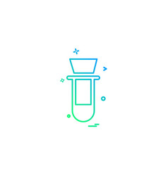 biology chemistry experiment science test tube vector image