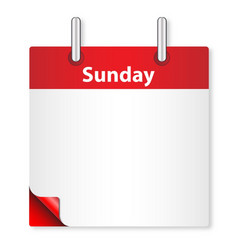 Blank sunday date vector