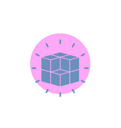 Box labyrinth puzzle solution cube glyph icon vector