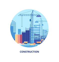 building house work process of buildings vector image