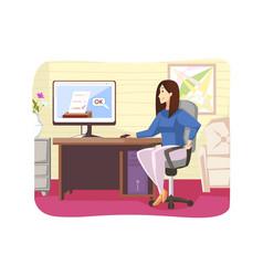 business politics making decision online voting vector image