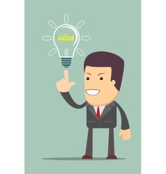 Businessman get idea vector image