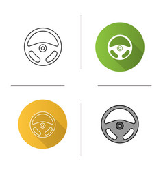 car rudder icon vector image