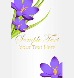 Card with blue bell flowers and space for your vector
