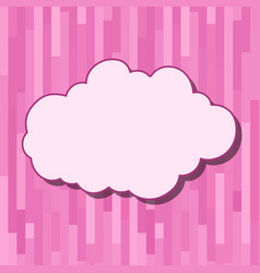 Cartoon cloud with shadow on striped ink vector