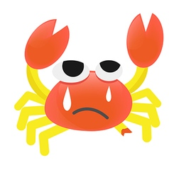 Cartoon Crab injured vector image