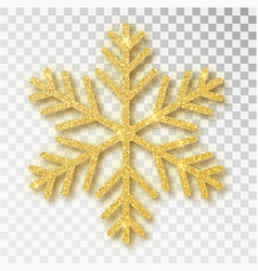 christmas decoration golden snowflake covered vector image