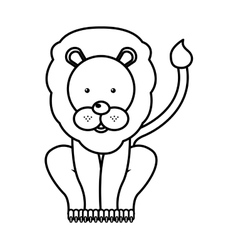 circus lion isolated icon design vector image