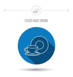 Coffee cup icon Food and drink sign vector image