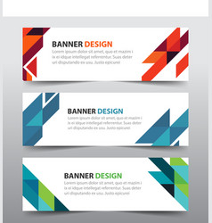 colorful abstract triangle corporate business vector image