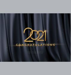 congratulations golden award on black silk vector image