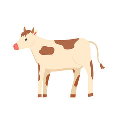 Cow rustic livestock domestic animal farming vector