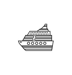cruise line icon travel tourism vector image