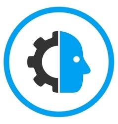 Cyborg Face Icon vector