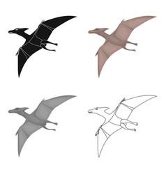 Dinosaur pterodactyloidea icon in cartoon style vector