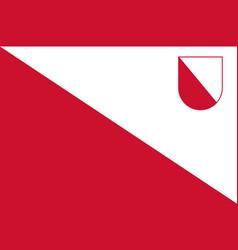 Flag of utrecht in utrecht netherlands vector