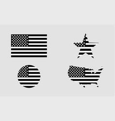 Flag usa star flag usa usa map american flag in vector