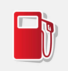 gas pump sign new year reddish icon with vector image