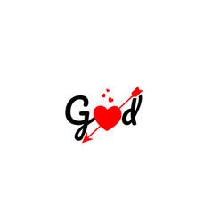 god word text typography design logo icon vector image