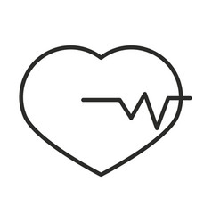 heartbeart medical science analysis line icon vector image