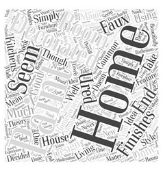 Home Decorating with Textured Paint Word Cloud vector