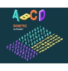 Isometric Design Style Alphabet vector