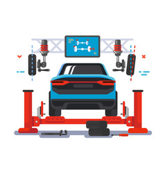 lift car on auto service vector image