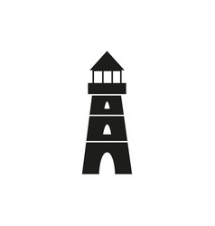 lighthouse black icon vector image