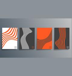 line minimal design for flyer poster brochure vector image