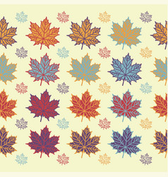 Maple leaf seamless pattern on white background vector