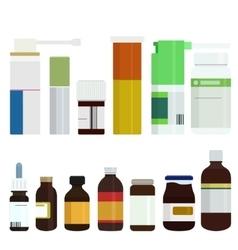 modern medicine bottles set vector image