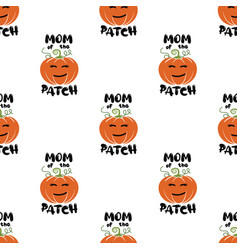 mom patch pattern halloween thanksgiving vector image