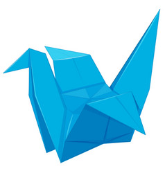 paper bird in blue color vector image
