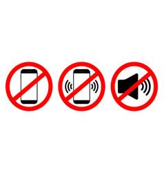 Phone off icon sign mobile ban forbidden use vector