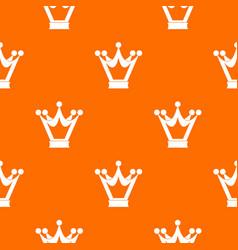 princess crown pattern seamless vector image vector image