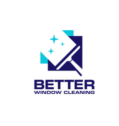 Professional window cleaning washing service logo vector