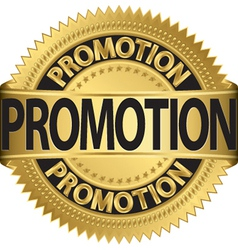 Promotional Gold label vector