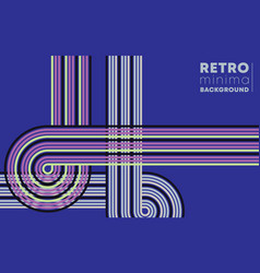 Retro design background with vintage color lines vector