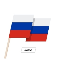 Russia Ribbon Waving Flag Isolated on White vector image