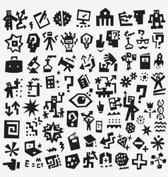 science symbols - icon set design vector image