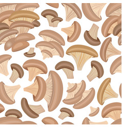Seamless texture with oyster mushrooms for your vector