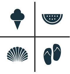 Season icons set collection of sweets forceps vector