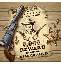 Sheriff stars vintage design vector