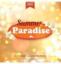 Shining summer paradise typographical background vector