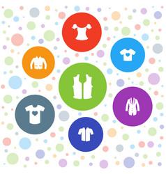 Shirt icons vector