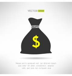 Simple money bag icon Bank savings symbol concept vector image